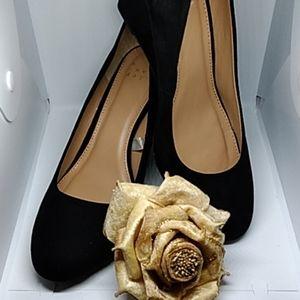 Suede Black Ladies' Heels
